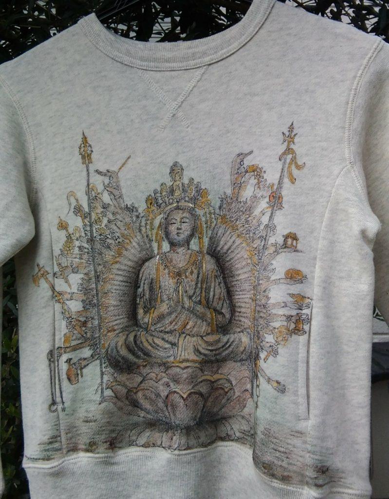 千手観音菩薩像Tシャツ