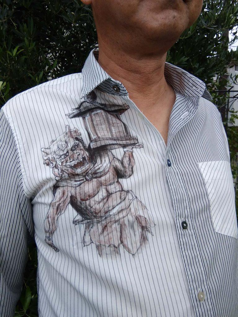 木造天燈鬼立像ちちのシャツ